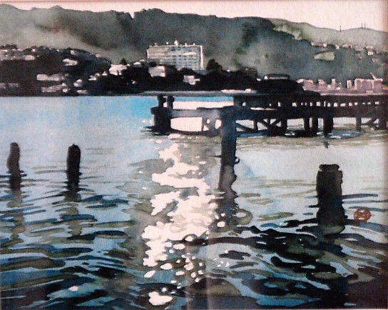 'Evans Bay' by Joy de Geus (SOLD)