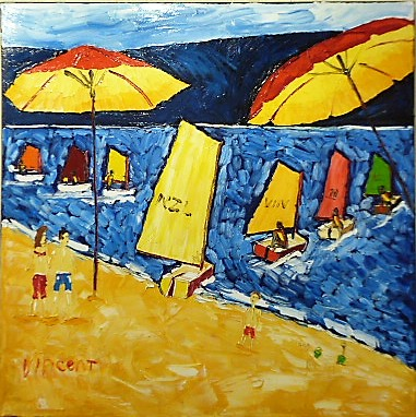 'Worser Bay Fun' by Vincent Duncan (SOLD)
