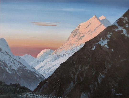 'Aoraki Mt Cook' by Graham Moeller (SOLD)