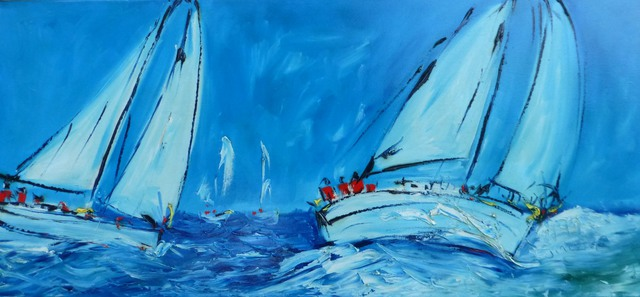 'Heavy Seas and Blue Sky' by Vincent Duncan (SOLD)