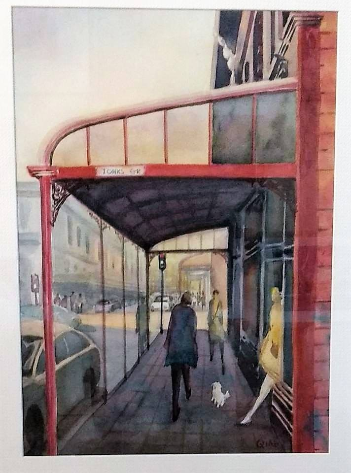 'Tonks Grove and  Cuba Street' by Sam Qiao (SOLD)