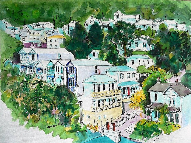 'Tinakori Road/Upton Tce' by George Thompson (SOLD)