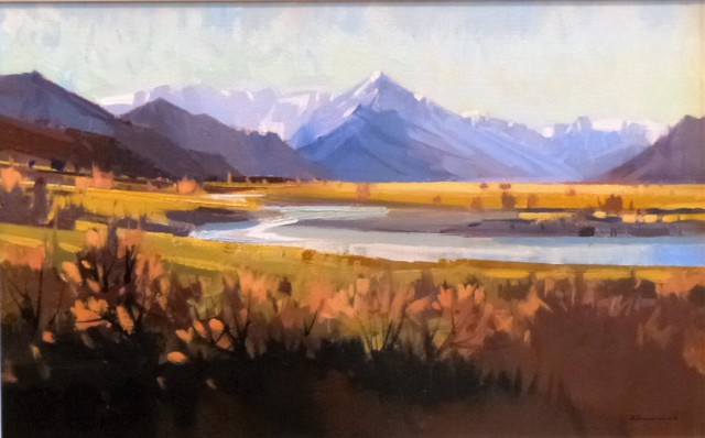 'Towards Mt Cook from Glenntanner' by Brian Badcock