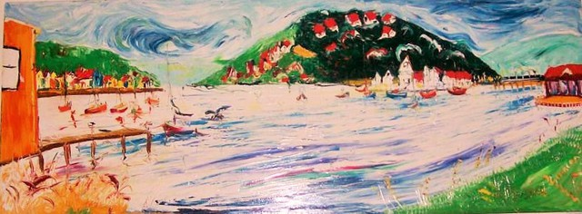 'View from the Boatsheds' by Vincent Duncan (SOLD)