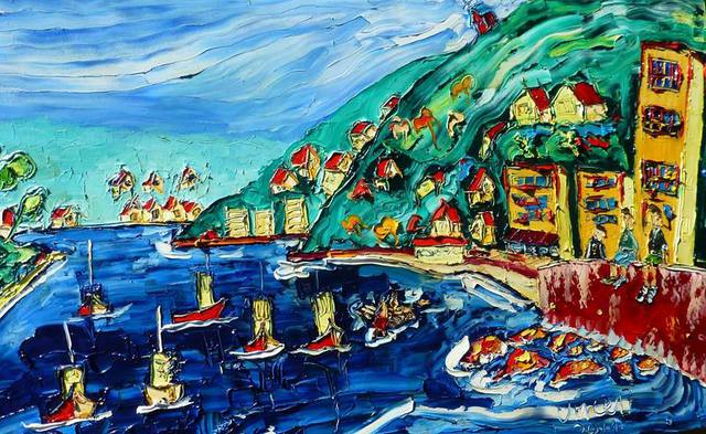 'Lazy Summer Boats' by Vincent Duncan (SOLD)