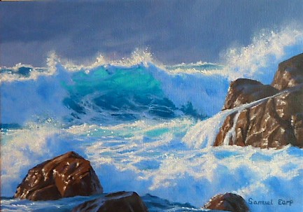 'Wave break South Coast' by Sam Earp (SOLD)