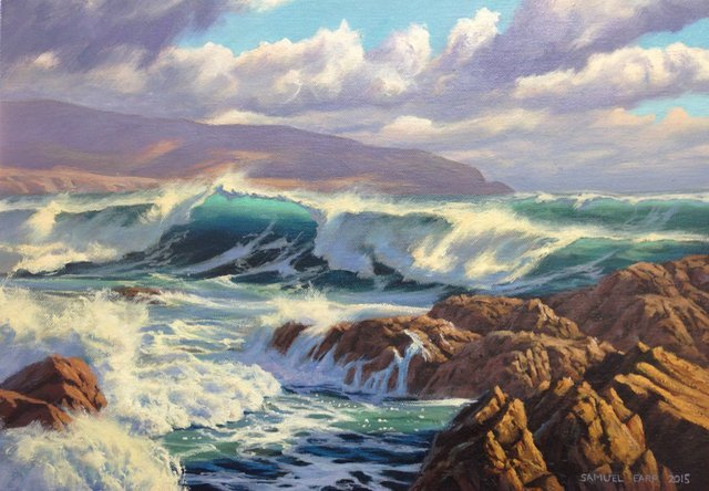 'Wellington Wild Seas' by Sam Earp (SOLD)