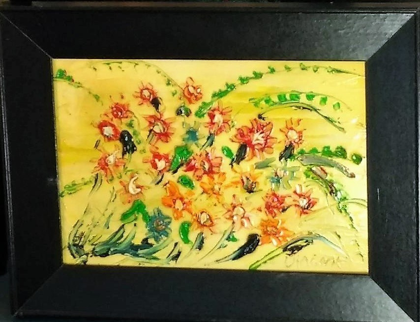 Vincent Duncan small table painting Flowers