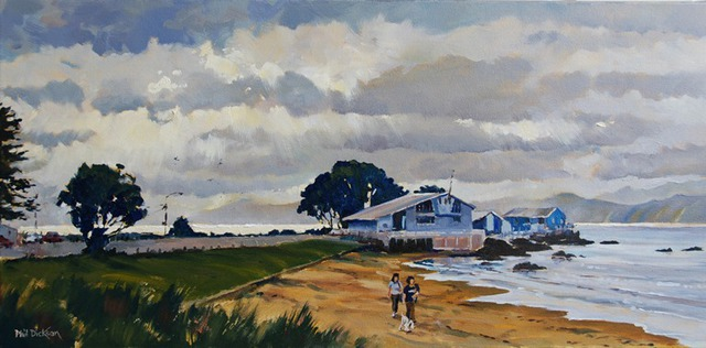 'Clouds and Sunshine Worser Bay' by Phil Dickson