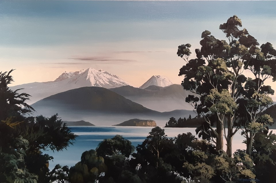 'View from Lake Taupo' by Graham Moeller (SOLD)