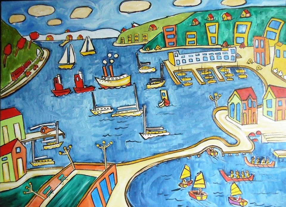 'Busy Harbour Day' by Vincent Duncan