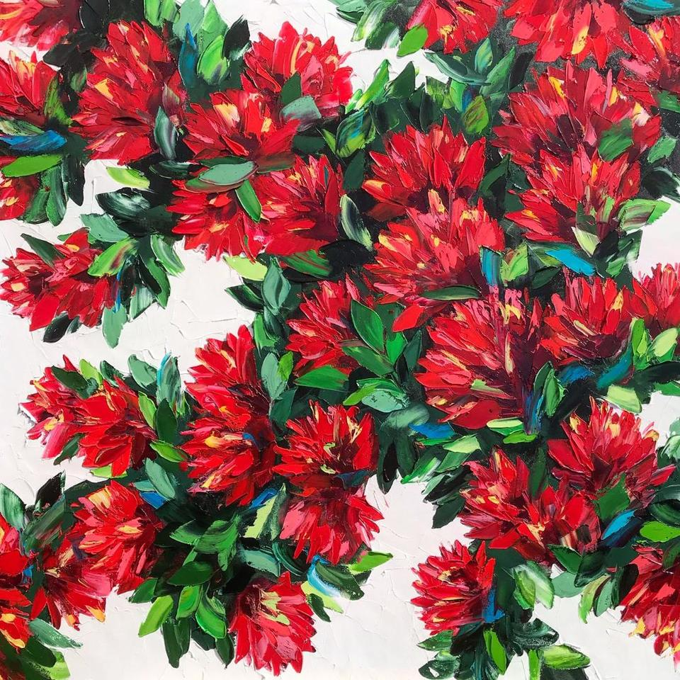'Pohutukawa Bloom' by Diana Peel (SOLD)