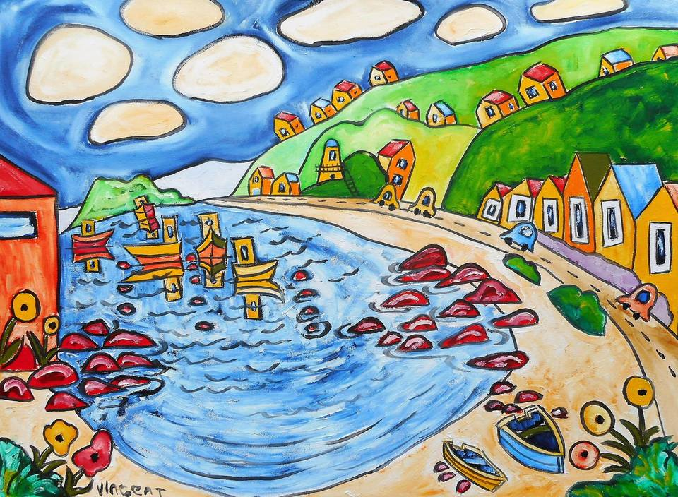 'Down to Island Bay' by Vincent Duncan (SOLD)
