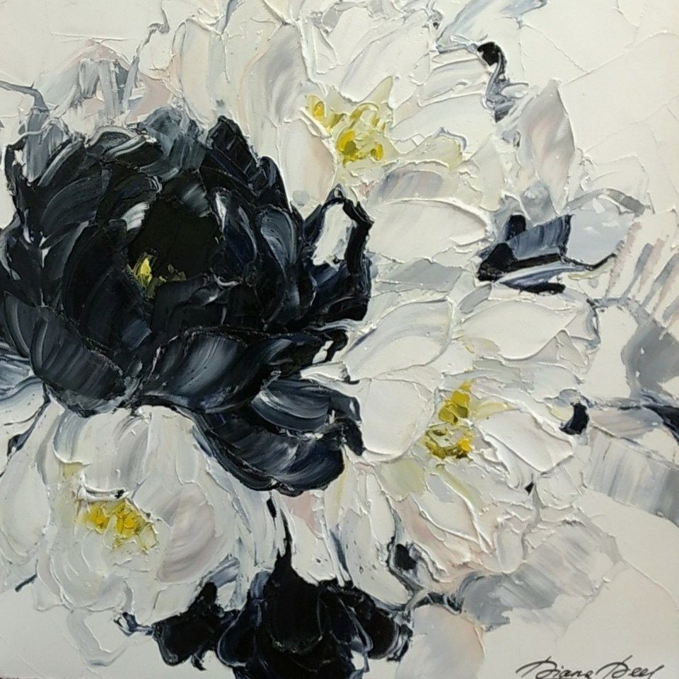 'Abstract Flowers No 6' by Diana Peel