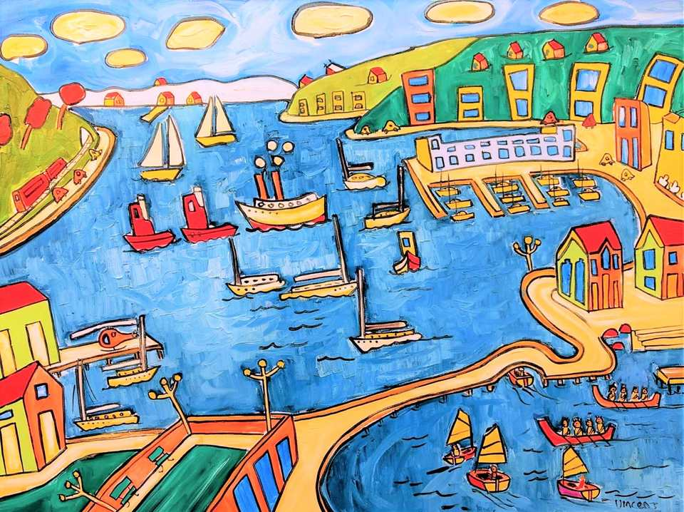 'In the Harbour' by Vincent Duncan (Sold)