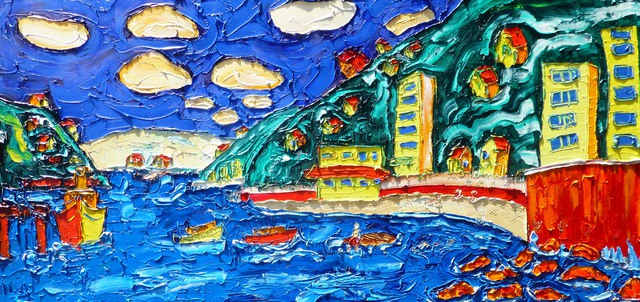 'The Oriental Bay Raft' by Vincent Duncan (SOLD)