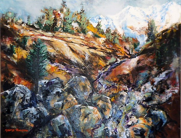 'Desert Road Central Plateau' by George Thompson (SOLD)