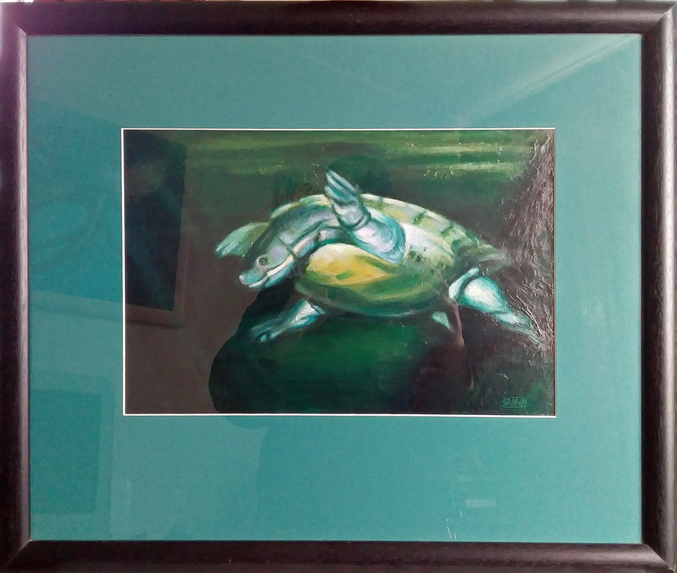 'Swimming Turtle' by Simon Jay