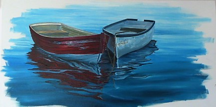 'Two Dinghys' by Graham Moeller