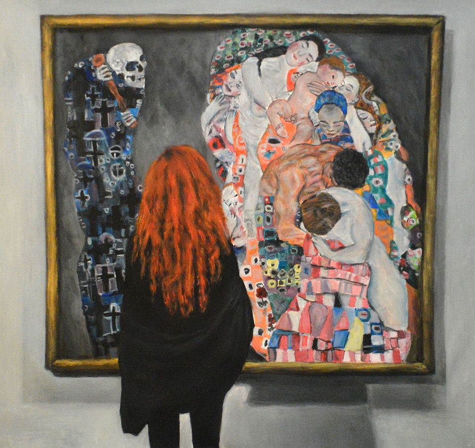 'Watching Klimt Death and Life' by Escha van den Bogerd (SOLD)