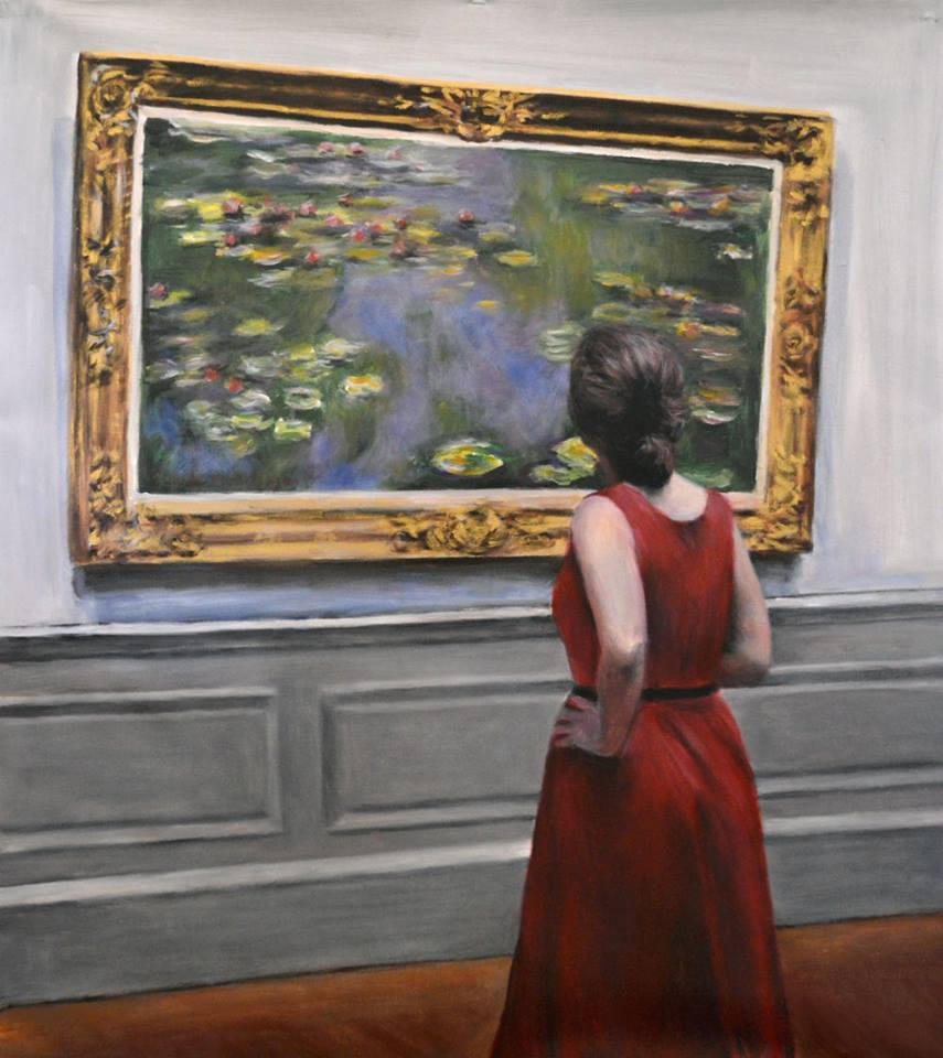 'Watching Monet Water Lillies' by Escha van den Bogerd (SOLD)
