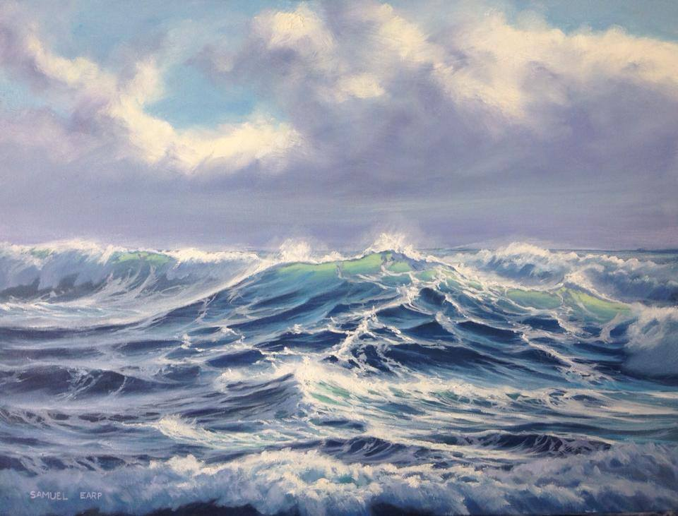 Sam Earp 'I paint seacscapes and landscapes. I can paint your local coastline and sea. I paint the sea in it's turbulent moods!'