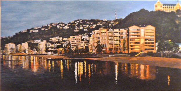 'Oriental Bay Lights' by Ronda Thompson