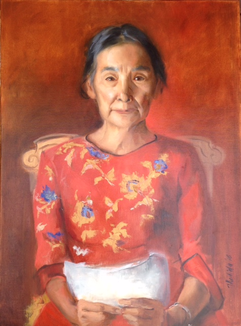 Tatyana Kulida oil portrait example 2