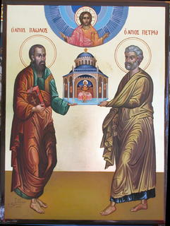 St Peter and St Paul Icon by Zad Jabbour