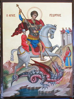 St George Icon by Zad Jabbour