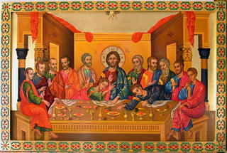 The last Supper Icon by Zad Jabbour