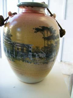 Urn with rope cord by Roger Bagshaw