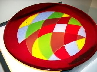 Small Coloured Glass Bowl by Alan Skates (SOLD)
